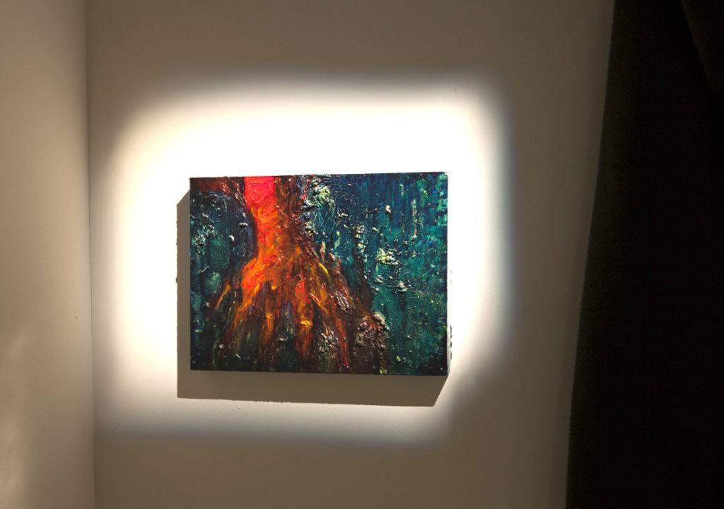 Paula Puoskari: Guardian´s Hand, 2013-2017, öljy kankaalle/ oil on canvas, 30 x 40 cm
