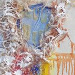 Aika valuu hukkaan, öljy kankaalle, 28cm x 60cm, 2017